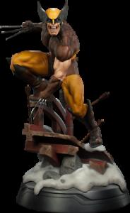 Wolverine marrón Costume Premium Format Sideshow Statue Logan masked & unmasked