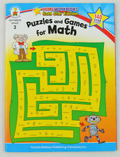 Home Workbooks: Puzzles and Games for Math, Grade 3 (2010, Paperback)