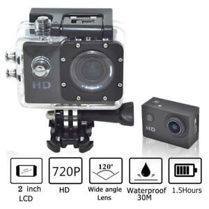 "720P HD 2"" LCD Sport Action Camera Waterproof Recorder with Mounting Accessories"