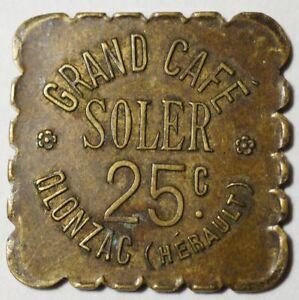 OLONZAC-TRES-RARE-NECESSITE-25c-CAFE-SOLER-O-REGRAVE-SUR-A-1-ex-repert