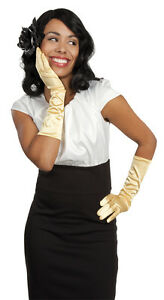 damen handschuhe hellgold schlager outfit retro zubeh r. Black Bedroom Furniture Sets. Home Design Ideas