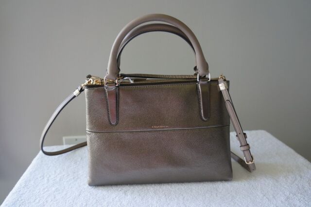 Coach Purse 32322 Leather Mini BOROUGH Metallic CARRYALL Shoulder Satchel Bag