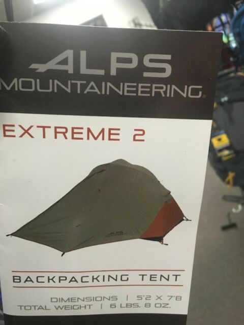 Alps Mountaineering Extreme 2 Person Backpacking Camping Tent Clay/Rust 5232617