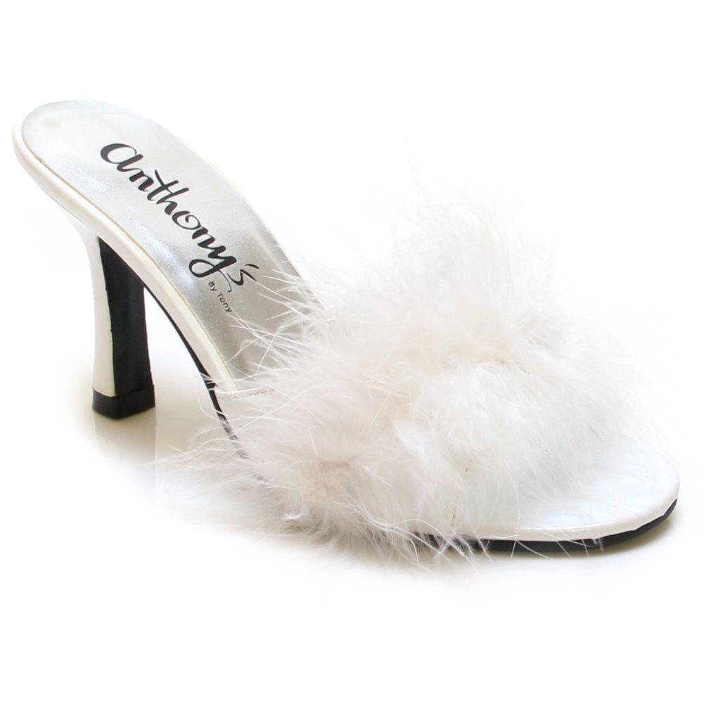 Marilyn-3 Feather Fur Maribou Slip-on 3