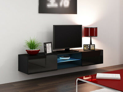 Etonnant Seattle 43   Black Tv Stand / Tv Console Table / Tall Tv Stands For Flat  Screen | EBay