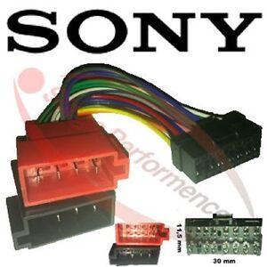 SONY-Radio-Adapter-Kabel-Stecker-ISO-Auto-CDX-CD-XR-XT-MD-MDX-MEX-WX-Profi-SURGA