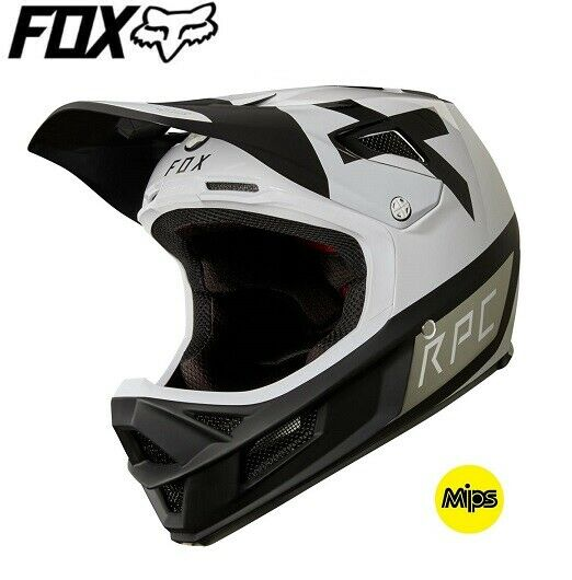 FOX  Rampage Pro Carbon Preest MIPS Full Face Downhill MTB Helmet - White  just for you