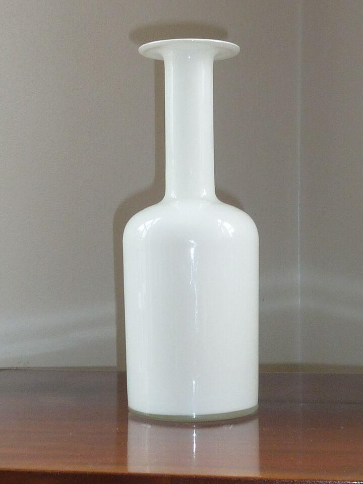 Glas, Flaskevase , Holmegaard Fyens kastrup glasværk