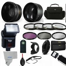 Professional Flash / Lens / Accessory Kit for Canon EOS Rebel SL1 40D 20D T3 T3I