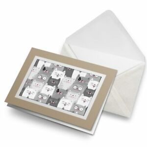 Greetings-Card-Biege-Cute-Cat-Audience-Grey-White-14431