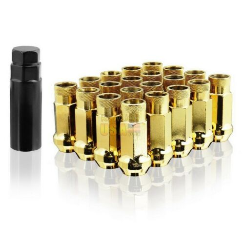 M12X1.5MM Vimax Iron Open End Tuner Gold Extended Wheel Lug Nuts 20 Pieces