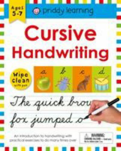 Wipe Clean Learning Bks.: Cursive Handwriting By Roger Priddy (2017,  Spiral) For Sale Online EBay