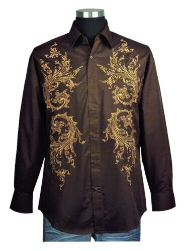 100/%Cotton Men/'s Casual Fashion Shirt With Embroidered Design M L XL 2XL 3XL 4XL