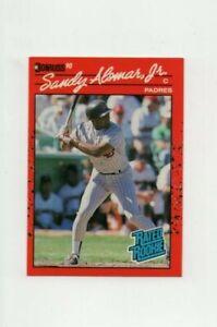1990 Donruss Sandy Alomar Jr #30 Rated Rookie Baseball Card San Diego Padres
