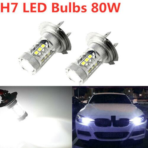 NEW 2x H7 LED Headlights High Low Beam Bulbs Kit White 6000K 8000LM Waterproof