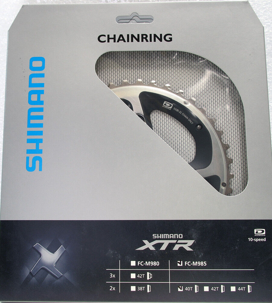 Shimano XTR FC-M985 Outer Chainring 40T, Bcd 88mm ,Use  With 28T(Excluded)10 spd  official authorization