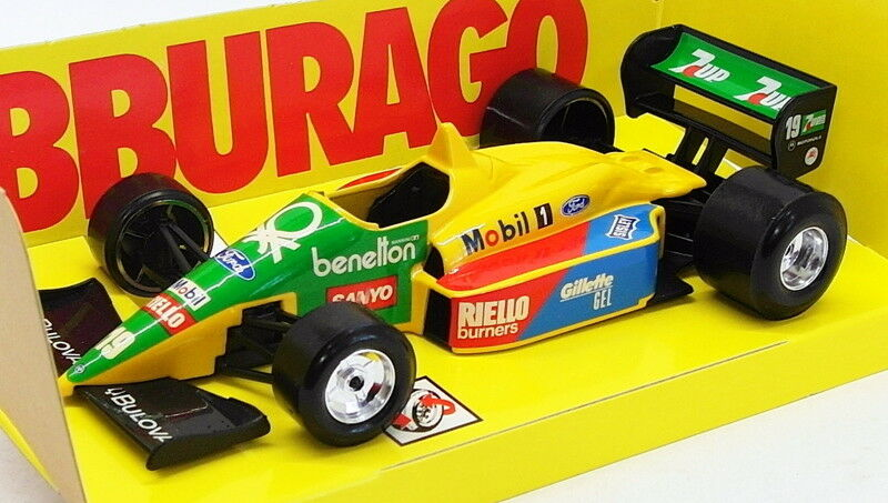 Burago 1 24 Scale Model Car B27J - F1 Benetton Ford -