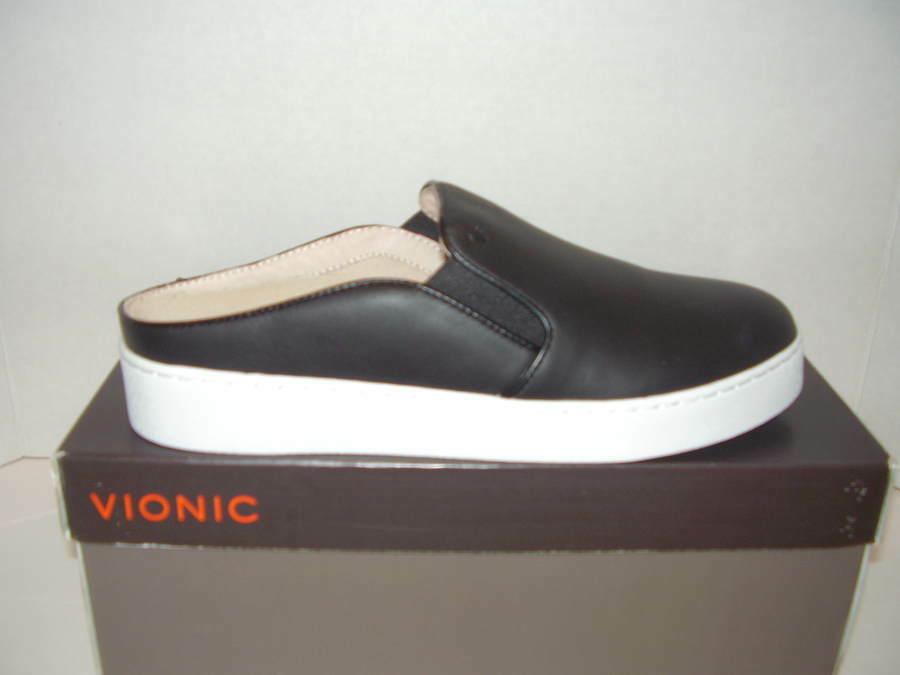 NEW VIONIC SPLENDID DAKOTA scarpe da ginnastica MULES  nero SZ 8.5M  Garanzia di vestibilità al 100%