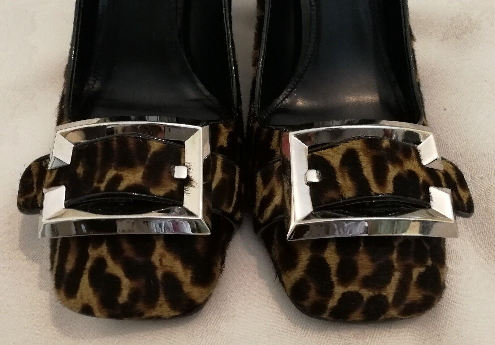 PRADA Leopard Dyed Calf Calf Calf Fur High Heel Pumps schuhe Größe uk 7 eu 40 f3733f