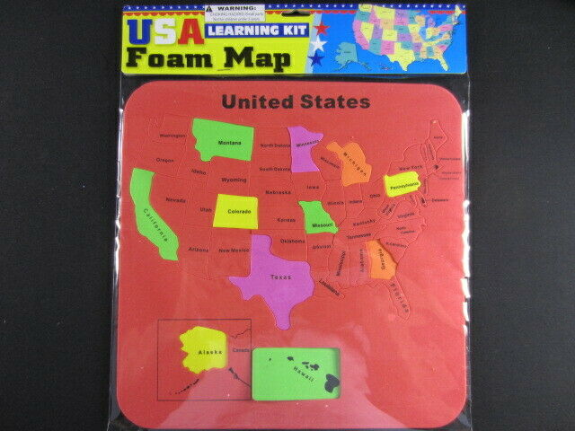 USA Foam Map Set Learning Kit - colors Very