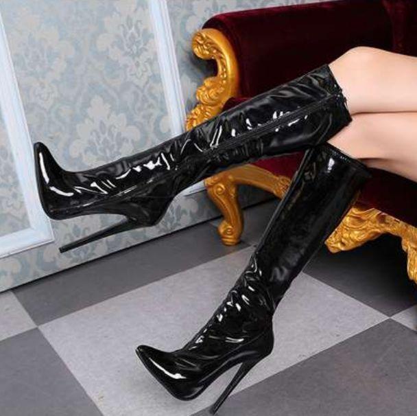 Vogue Vogue Vogue Sexy Pointed Toe Womens Knee High Boots Side Zip Stilettos High Heels 3eb2ae