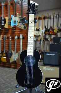 G-Sharp OF-1 Electric Travel Guitar (Black, g# tuning, comes w/ gigbag)