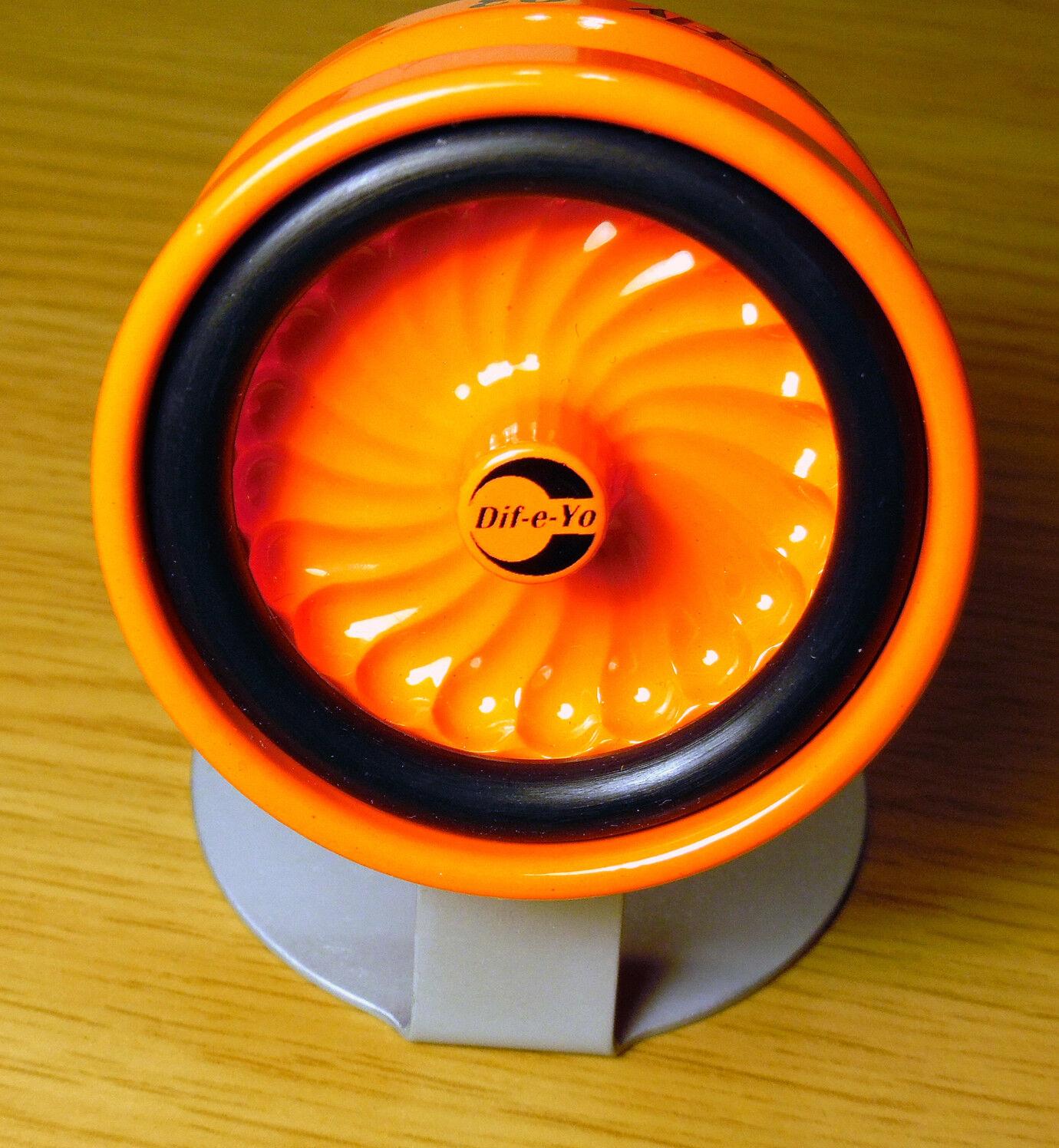 Dif-e-yo daizzy-fly   03 sammler modell yo - yo - Orange florescent pulver mantel yoyo