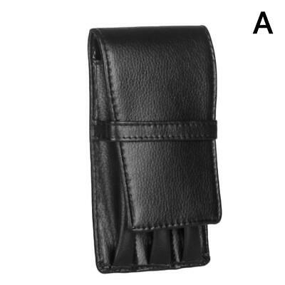 Leather Fountain Pen Case Holder Pouch Bag for 3 Pens Roller Storage Holder Gift