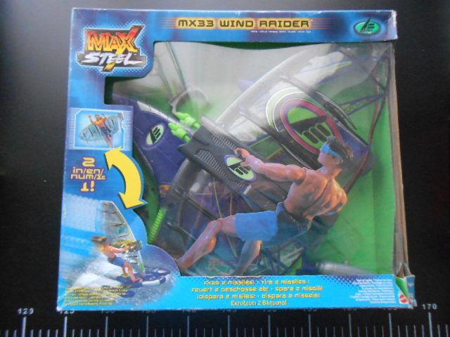 MAX STEEL MX 33 WIND RAIDER Action Man VEHICLE Hasbro