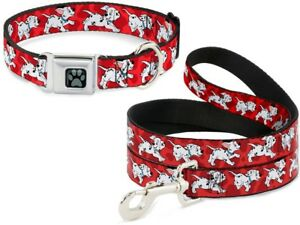 Buckle-Down-Seatbelt-Dog-Collar-or-Leash-Disney-101-Dalmatians-S-M-L-Made-in-USA