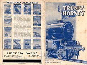 Catalogue Hornby Trains Via Spur Jauge O 1929 Es Aa