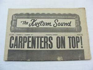 Vintage Newspaper The Kustom Sound Chanute Kansas Carpenters 1971