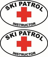 2 Ski Patrol Instructor Oval Stickers Free Shipping