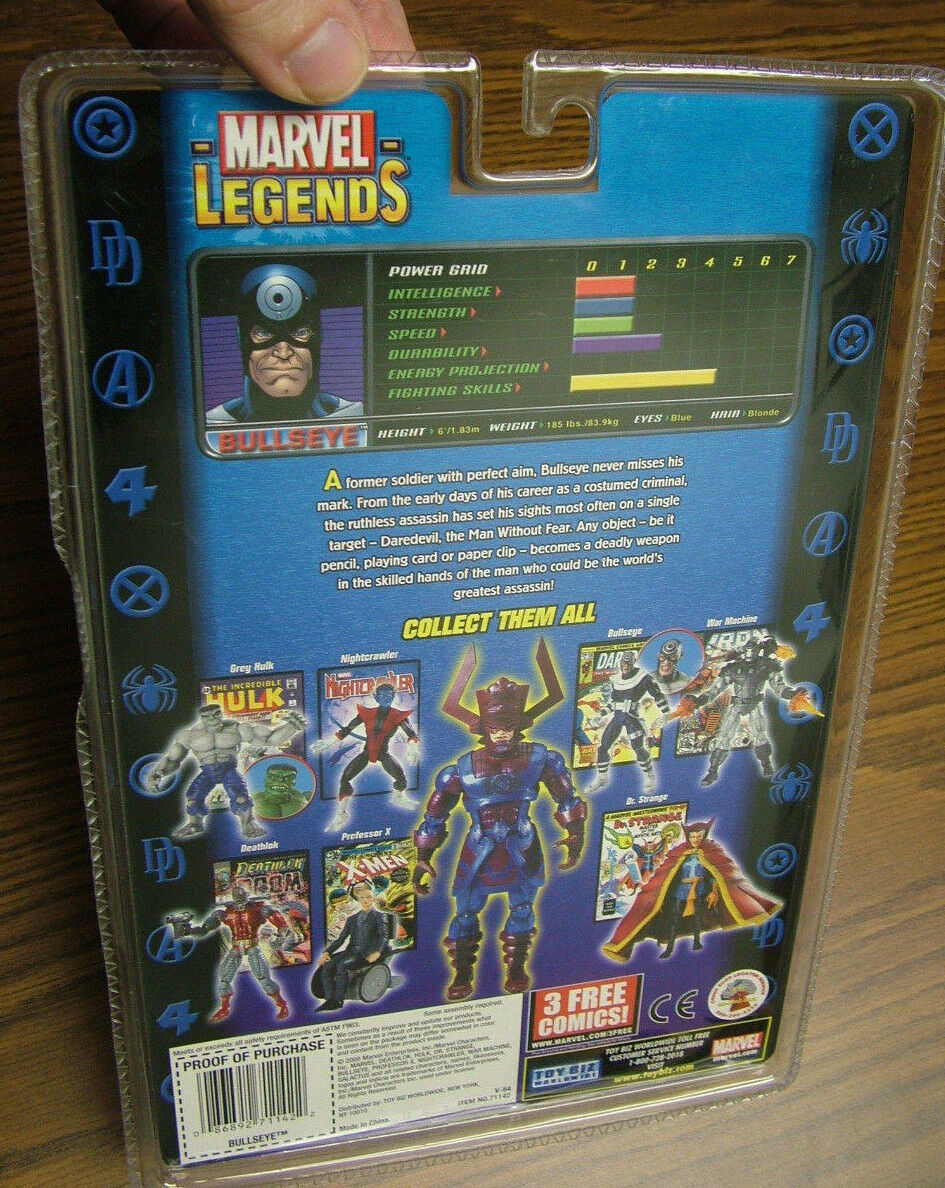 Marvel Legends Legends Legends  Bullseye w  44 points of articulation - Galactus Series + comic 62ff3c