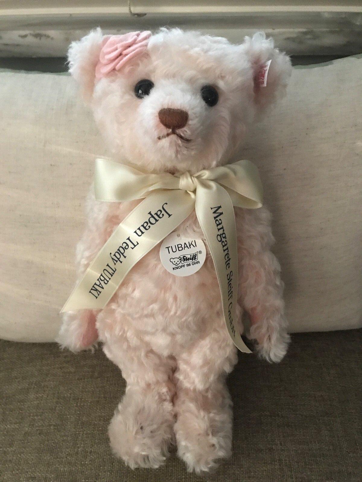 Steiff  676413 Tubaki Teddy Bear Camelia Blossom LE