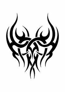 Grinning Skull Tattoo style stencil 350 micron Mylar not thin stuff  #TaT0021