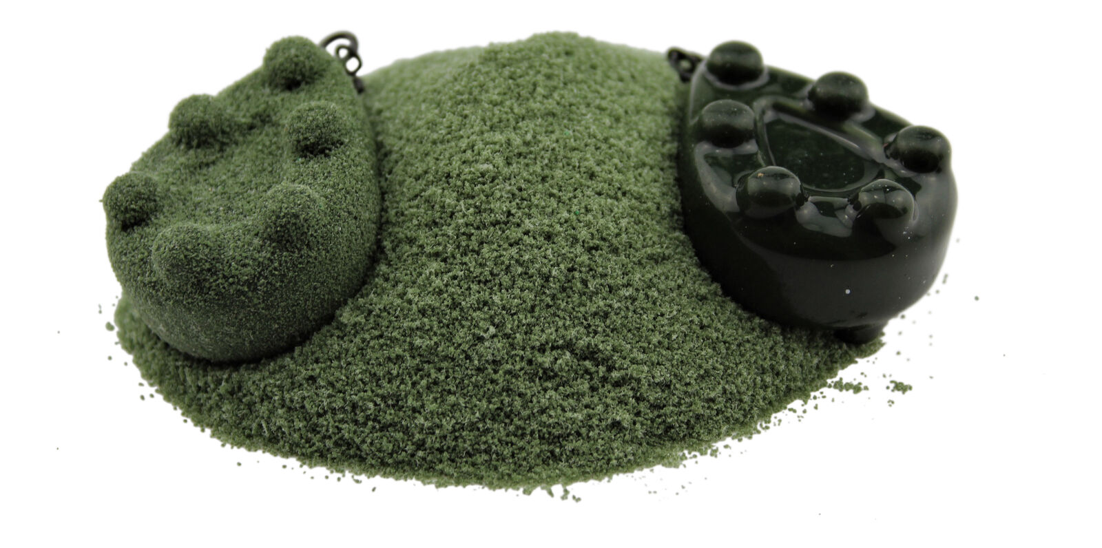 Conduire Revêtement POWDER - grand paquet 1,0kg - Sombre mauvaise herbe green