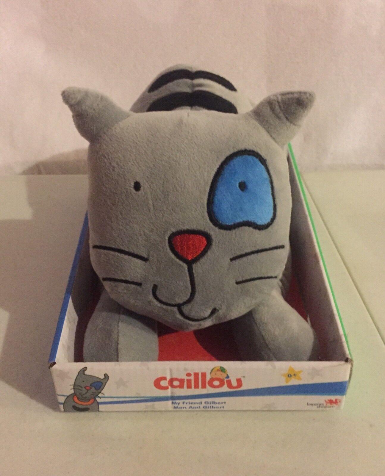 "NEW Caillou pet cat GILBERT 12"" pouncing napping plush RARE Collectible MINT"