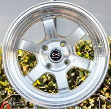 SILVER 16X8 +20 ROTA GRID V 4X100 WHEELS FIT XA XB YARIS JETTA CIVIC SI EG6 EK9