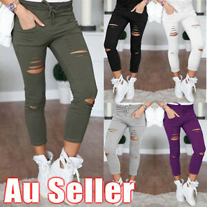 Fashion-Women-Casual-Skinny-Stretch-Slim-Fit-Pencil-Pants-Trousers-Leggings-New