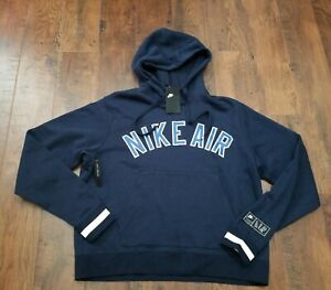 L Air New Details Throwback Men's Pullover Blue Casual Gym Fleece About Retro Hoodie Nike xCoedB