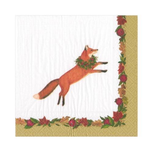 Leaping Fox 2 Packs Caspari Paper Beverage Napkins 16250C