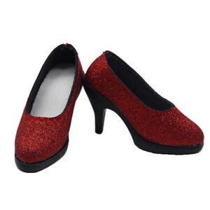 1//3 SD16//13//DD BJD Shoes Cross Belt High Heels Bright//Matte Red Charming Legs