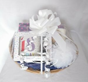 Das Bild Wird Geladen Happy Birthday Geschenk Korb Waeschebox 18th 30th 40th