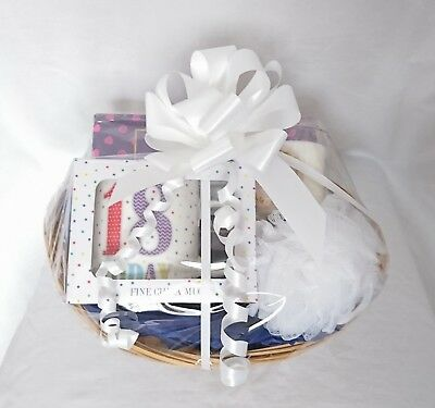 Happy Birthday Gift Basket Hamper 18th 30th 40th 50th Mug Chocolates Candle