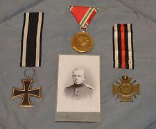 WWI WW1 Original German Medal Set Lot: Iron Cross, Hindenburg, Kaiser Jubilee