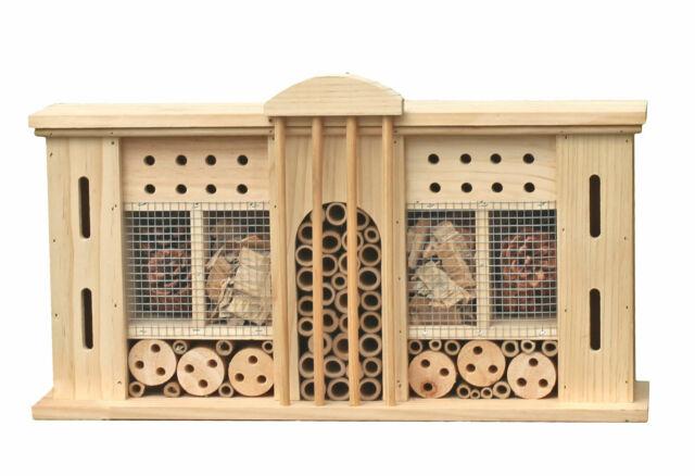 Insektenhotel VILLA zum aufhängen - 50 cm - Insektenhaus Holz Bienenhotel groß