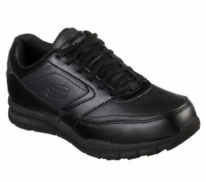 77235-Black-Skechers-shoes-Women-Work-Memory-Foam-Comfort-Slip-Resistant-EH-Safe