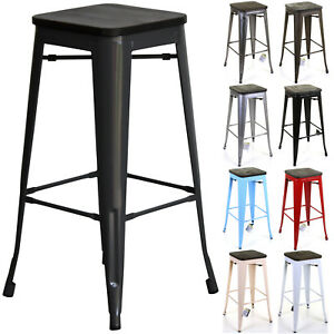 Phenomenal Details About Metal Industrial Bar Stools Seat Chairs Breakfast Vintage Kitchen Cafe Rustic 2S Creativecarmelina Interior Chair Design Creativecarmelinacom