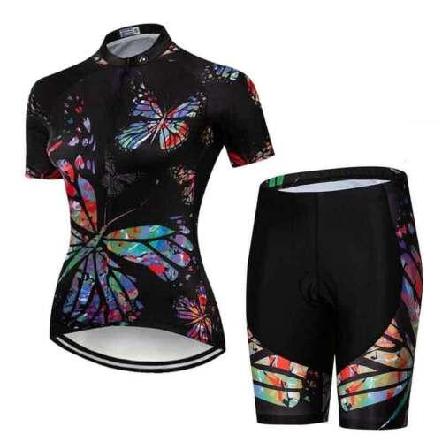 Damen Rennrad Bekleidung Kurzarm Fahrradshirt /& Radsport Shorts Radhose Kurz Set